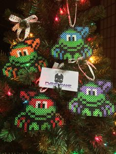 TMNT Christmas Ornament Perler Bead Art by SDKD on Etsy