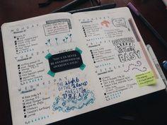 studytildawn:  Last week's spread. Love my quote of the week. ❤️