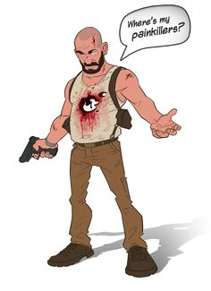 Max Payne 3 cartoon by PatrickBrown.deviantart.com on @DeviantArt