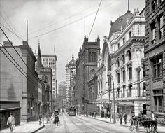 Sixth Avenue and Cherry Way, 1908. 17 Vintage Photos of the Steel City of Old - The 412 - January 2014