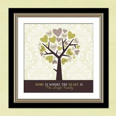 Grandparents Personalized Gift-  Custom Family Tree - Anniversary Gift - Christmas Gift. $30.00, via Etsy.