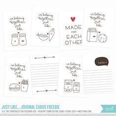 FREE Printables - Just like… Journal Cards   MissTiina.com {Blog}