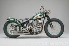 ❦ Harley Davidson Knucklehead bobber