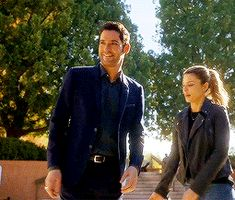 Tom Ellis as Lucifer with Lauren German
