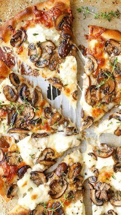 Prosciutto Pizza, Burrata Pizza, Grilled Pizza, Grilled Zucchini, Grilled Vegetables, Flatbread Pizza, Carmelized Onion Pizza, Carmelized Onions And Mushrooms, Pizza Champignon