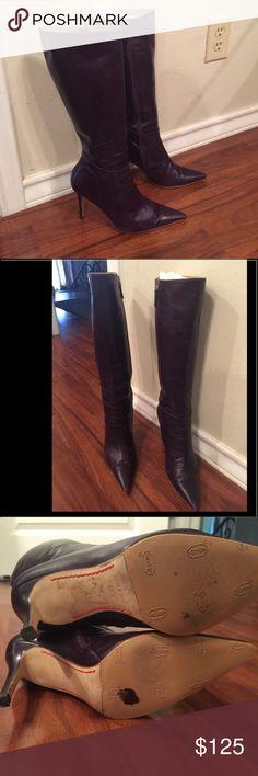 VALENTINO Garavani leather boots VALENTINO Valentino Garavani Shoes Heeled Boots