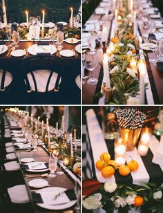 Beautiful tablescape and lighting for an outdoor reception in a tent