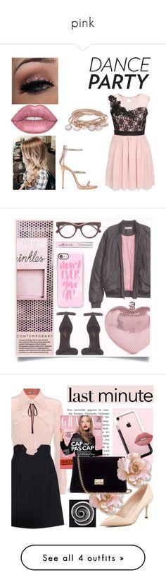 """pink"" by uucuvg ❤ liked on Polyvore featuring Elise Ryan, Giuseppe Zanotti, Marjana von Berlepsch, Whiting & Davis, Yves Saint Laurent, Casetify, STELLA McCARTNEY, Kate Spade, RaCaNoKi and Miu Miu"