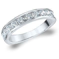 14K White Gold Diamond Channel Set Wedding Band (1.0 cttw, F-G Color, VVS1-VVS2 Clarity)