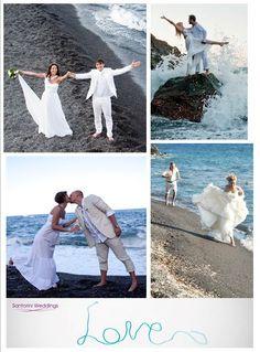 Santorini wedding packages - perfect beach wedding photography