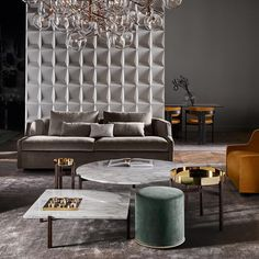 The Incredible Collection That Versace Home Debuted in Milan Luxury Rooms, Luxury Sofa, Luxury Home Decor, Furniture Upholstery, Furniture Design, Golden Decor, Coffee Table Furniture, Living Room Lounge, Best Interior Design