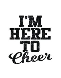 I'm Here to Cheer Iron On Decal by GirlsLoveGlitter on Etsy