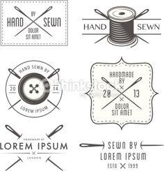 ベクトルアート : Set of vintage tailor labels and emblems                                                                                                                                                                                 もっと見る