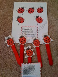 Red-Lady Bug craft
