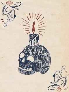 Athos Quote Illustration on Behance