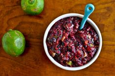 Blueberry Lime Salsa - looks incredible! For Phase 3, sub some cherries for the strawberries.