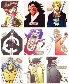ONE PIECE The Revolutionary Army, Koala, Dragon, Sabo, Kuma, Ivankov, Inasuma, Hack, Bunny Joe, Terry Gilteo