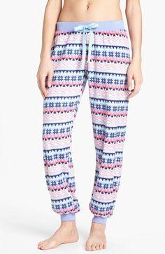 BP. Undercover 'Slumber Party' Pattern Flannel Pants (Juniors) | Nordstrom