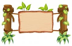 Find Wooden Nature Blank Board Illustration stock images in HD and millions of other royalty-free stock photos, illustrations and vectors in the Shutterstock collection. Thousands of new, high-quality pictures added every day. Boarder Designs, Frame Border Design, Page Borders Design, Kids Background, Background Banner, Vector Background, Deco Jungle, Boarders And Frames, Classroom Birthday
