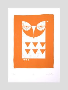 Image of Owl - Hand pulled, limited edition, screen print