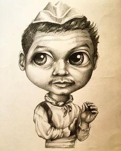 Cantinflas Lápiz sobre papel