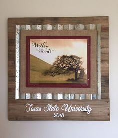 custom rustic diploma frame httpswwwfacebookcomwillow