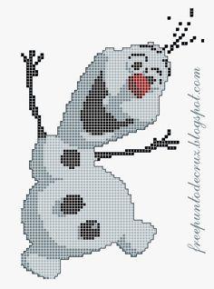 Olaf Frozen free pattern - Dibujos Punto de Cruz