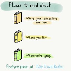 Where to start reading about the world? Start with the places that mean the most to you. Your past, your present, your future. Find books set in these places at KidsTravelBooks