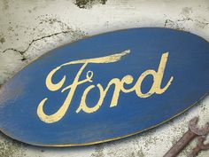 Ford Sign Wall Decor Distressed and Aged by RusticPost on Etsy, $29.00