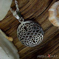 925 Sterling Silber, Keltischer Knoten, Amulett, Kelten, Ketten-Anhänger, Metal