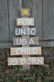 Accidentally Wonderful: Pallet Christmas Tree  For Sunday School: could use craft sticks....I love this!
