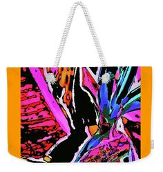 "Bird Of Paradise  Weekender Tote Bag (24"" x 16"") by Expressionistartstudio Priscilla-Batzell.  The tote bag is machine washable and includes cotton rope handle for easy carrying on your shoulder.  All totes are available for worldwide shipping and include a money-back guarantee."