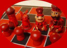 chaturanga - el juego de los cuatro reyes juego de ajedrez artesanal pasta flexible,blanco de españa piezas modeladas a mano,tablero mosaico
