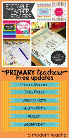 As a primary teacher of over 10 years, I love this classroom binder and planner.  Keep things straight all year long, $ tons of colorful designs