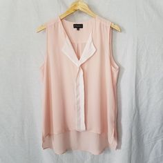 My Michelle Women's Large Sleeveless Tank Cami Blouse Top Pink Sheer Collar  | Clothing, Shoes & Accessories, Women's Clothing, Tops & Blouses | eBay!