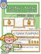 4 funny pumpkins pocket chart freebie							  							  								From Inglés 360°