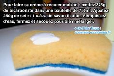 Voici Comment Fabriquer sa Crème à Récurer Maison. Diy Cleaning Products, Cleaning Solutions, Cleaning Hacks, Homekeeping, Green Cleaning, Home Made Soap, The Body Shop, Healthy Tips, Clean House