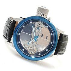 Invicta Men's Russian Diver Ghost Bridge Automatic Leather Strap Watch