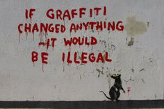 Banksy - The corner of Clipstone and Cleveland Streets in Fitzrovia.