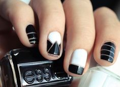 Black And White Nail Designs For Short Nails