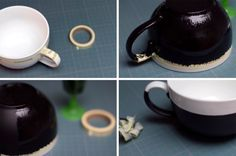 DIY : une tasse tableau noir personnalisable à la craie - Des idées