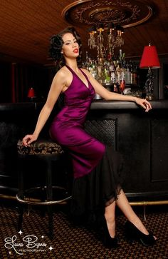 069bb0d38ff Sexy Purple Dress Pin Up Outfits