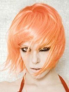peach hair...dunno why, but I love this. Pale pastel peach hair.