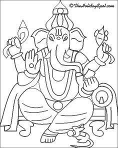 ganesha coloring book for ganesh chaturthi kids you can print out the ganesha pictures and color them to your heart - Outline Drawing For Kids