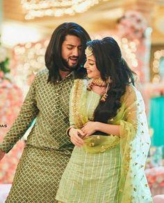 Cute Love Couple, Cute Family, Indian Designer Outfits, Indian Outfits, Shrenu Parikh, Mehndi Dress, Surbhi Chandna, Fashion Photography Poses, Saree Models