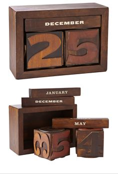 Woodblock Calendar from Fossil by Aaron Eiland