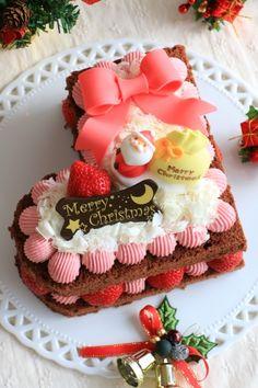 クリスマスブーツのチョコレートケーキ