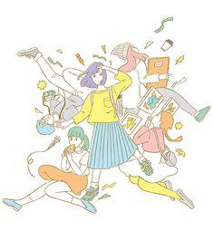 京都造形芸術大学OPEN CAMPUS 2016 ビジュアルイラスト | イラストレーター高橋由季website