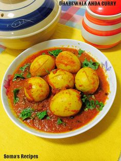 CURRY AND SPICE: DHABEWALA ANDA CURRY