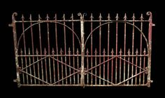 PAIR OF ANTIQUE WROUGHT IRON GATES - UK Architectural Heritage